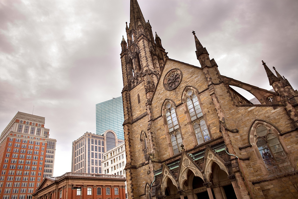 Church of the Covenant in the back bay area of Boston; Massachusetts; United States
