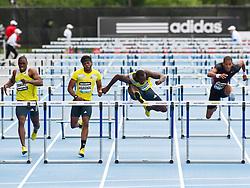 adidas Grand Prix track & field: Diamond League Professional meet, mens 110 High Hurdles, .Ryan BRATHWAITE, Barbados