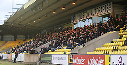 Falkirk fans. <br /> Livingston 1 v 1 Falkirk, Scottish Championship game at The Tony Macaroni Arena at 23/1/2016.