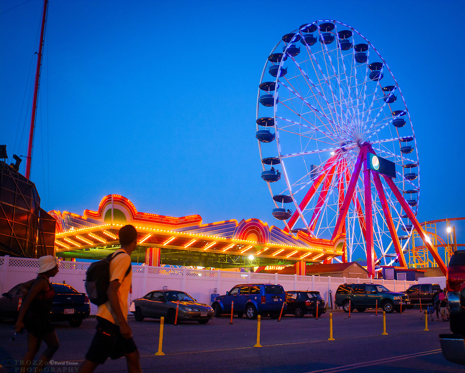 Ferris wheel ride, Ocean City, Maryland.