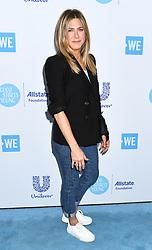 Jennifer Aniston arriving at WE Day California in Los Angeles, California - April 19, 2018 - Photo: Runway Manhattan