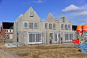 Nederland, Nijmegen, 27-2-2014Bouwplaats voor huizen in de nieuwe wijk Laauwik, onderdeel van de stadsuitbreiding Waalsprong van Nijmegen in Lent.Er worden hier veel verschillende woningtypen gebouwd, zowel voor sociale huur,koop en vrije sector.Foto: Flip Franssen/Hollandse Hoogte