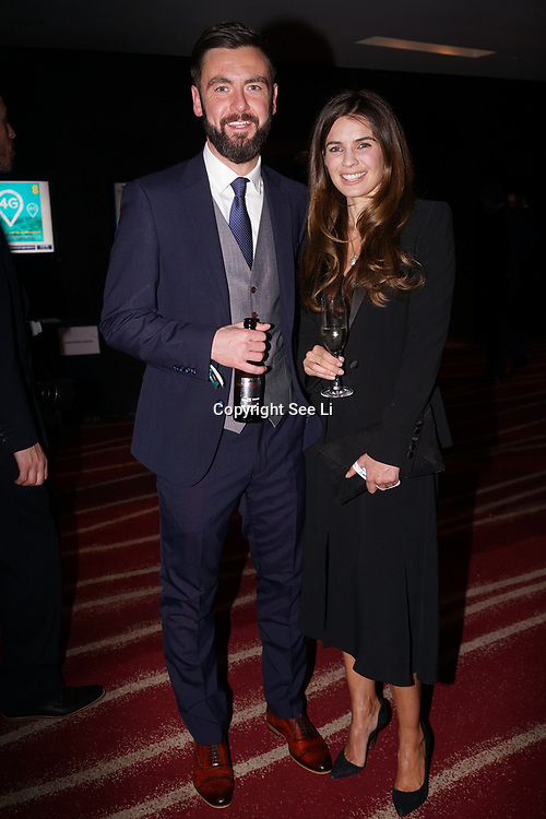 Westminster, UK. 20th Apr, 2017. Mark Hamilton & Joanne salley - glove box attends The annually National UK Blog Awards at Park Plaza Westminster Bridge, London. by See Li