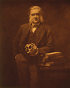 "Thomas Henry Huxley (1825-1895) was left by Darwin, never one to argue in public for his own controversial ideas, to champion his friend and colleague's evolutionary theory.  He was called ""Darwin's bulldog."""
