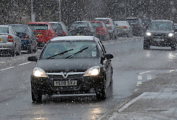 © under license to London News Pictures. 24/11/10. Cars drive through the snow on Wednesday 24th November 2010 in Aberdeenshire, Scotland. The Met Office issued severe weather warning for snow across the UK. Photo credit should read Scott Campbell/London News Pictures