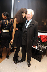 Model JOY VIELI and LORD MOYNE at the MCM Christmas party held at their store at 5 Sloane Street, London on 26th November 2008.