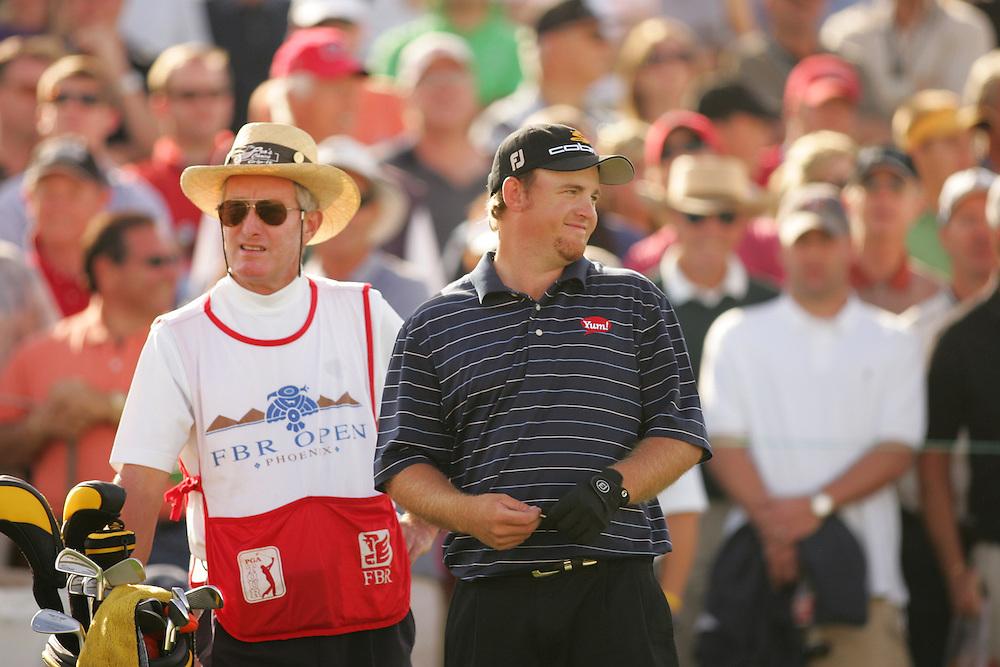 J.B. Holmes.Mike Cazrrick ( caddie ).2006 FBR Open.Final Round.TPC of Scottsdale.Scottsdale, AZ.Sunday, February 5 2006.02-05-06.photograph by Darren Carroll.