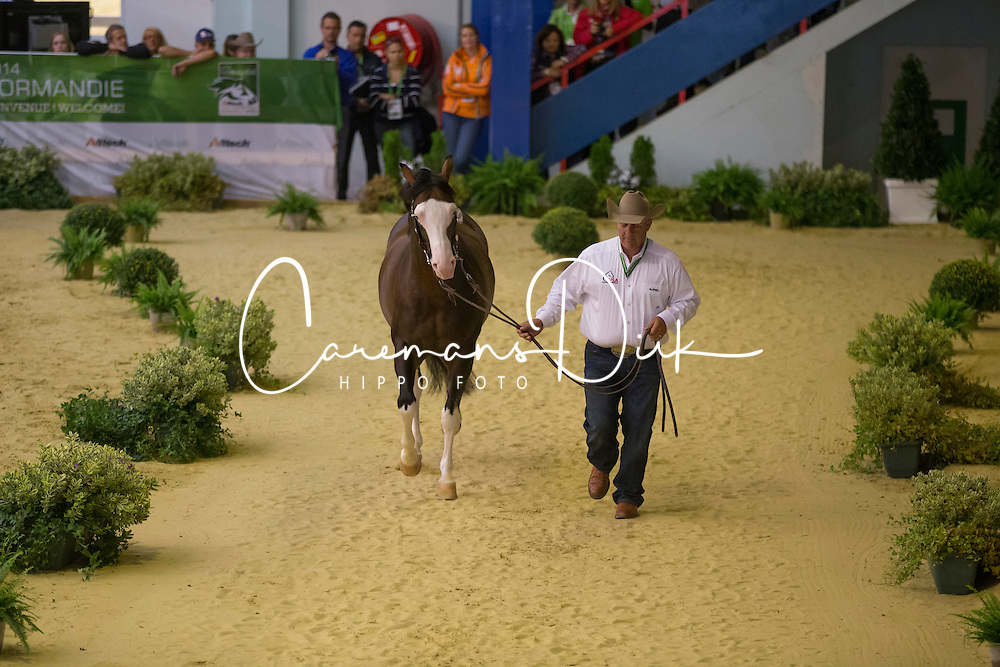 Shawn Flarida, (USA), Spooks Gotta Whiz - Horse Inspection Reining  - Alltech FEI World Equestrian Games™ 2014 - Normandy, France.<br /> © Hippo Foto Team - Dirk Caremans<br /> 25/06/14