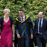 26.08.2016          <br /> Olympian Thomas Barr will today be awarded a Masters of Science in Sports Performance from the University of Limerick during a conferring ceremony.  <br /> <br /> Thomas Barr is pictured with his  coaching ticket, husband and wife team, Hayley and Drew Harrison before the conferring ceremony. Picture: Alan Place