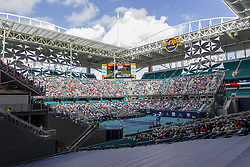 March 25, 2019 - Miami Gardens, FL, USA - Fans watch a match between Roger Federer, of Switzerland, and Filip Krajinovic, of Serbia, during the Miami Open tennis tournament on Monday, March 25, 2019 at Hard Rock Stadium in Miami Gardens, Fla. (Credit Image: © Matias J. Ocner/Miami Herald/TNS via ZUMA Wire)