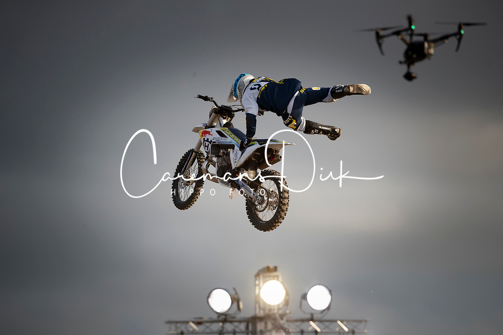 Red Bull - Freestyle Motorcross Demo<br /> CSI5* Grand Prix<br /> Jumping Antwerpen 2017<br /> © Hippo Foto - Dirk Caremans<br /> 22/04/2017