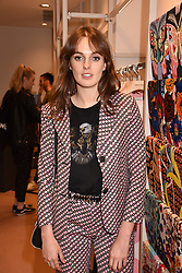 Lady Violet Manners at launch of Bimba Y Lola, 295 Brompton Road, London England. 26 April 2018.