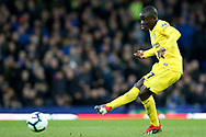 Chelsea midfielder Ngolo Kante (7) during the Premier League match between Everton and Chelsea at Goodison Park, Liverpool, England on 17 March 2019.