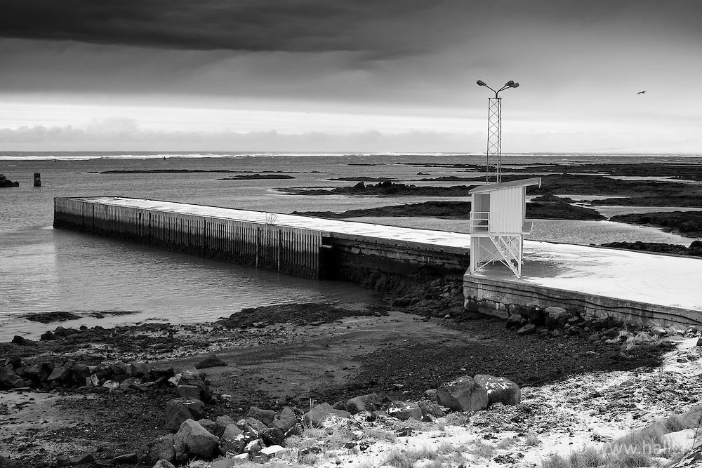 Old wharf at Eyrarbakki, south coast Iceland - Bryggja á Eyrarbakka