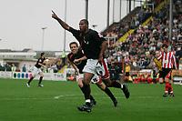 Photo: Pete Lorence.<br />Lincoln City v Milton Keynes Dons. Coca Cola League 2. 16/09/2006.<br />Clive Platt celebrates scoring Milton Keynes Dons' third goal.