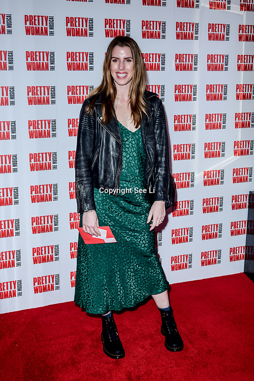 Carly Rowena Arrivals at Pretty Woman The Musical press night at Piccadilly Theatre on 2nd March 2020, London, UK.