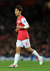 01.11.2011, Emirates Stadion, London, ENG, UEFA CL, Gruppe F, Arsenal FC (GBR) vs Olympique de Marseille (FRA), im Bild  Arsenal's Park Chu-Young in action // during UEFA Champions League group F match between Arsenal FC (GBR) and Olympique de Marseille (FRA) at Emirates Stadium, London, United Kingdom on 01/11/2011. EXPA Pictures © 2011, PhotoCredit: EXPA/ Propaganda Photo/ Chris Brunskill +++++ ATTENTION - OUT OF ENGLAND/GBR+++++