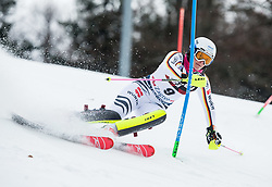 """Christina Geiger (GER) competes during 1st Run of FIS Alpine Ski World Cup 2017/18 Ladies' Slalom race named """"Snow Queen Trophy 2018"""", on January 3, 2018 in Course Crveni Spust at Sljeme hill, Zagreb, Croatia. Photo by Vid Ponikvar / Sportida"""