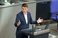 DEU, Deutschland, Germany, Berlin, 23.04.2021: Deutscher Bundestag, Dr. Marcus Faber (FDP) bei einer Rede in der Plenarsitzung.