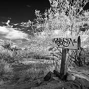 Abandoned Mailbox - Joshua Tree, CA - Infrared Black & White