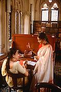 INDIA, EDUCATION University students study in library in Mumbai (Bombay)