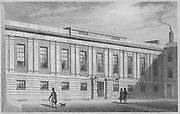 Grocers' Hall, Poultry, engraving from 'Metropolitan Improvements, or London in the Nineteenth Century' London, England, UK 1828 , drawn by Thomas H Shepherd