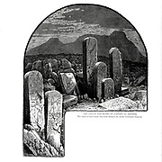 The Stelae and ruins at Sarabit el Khadim. The latest of these Stelas date from Ramses IV, of the Twentieth Dynasty Wood engraving of from 'Picturesque Palestine, Sinai and Egypt' by Wilson, Charles William, Sir, 1836-1905; Lane-Poole, Stanley, 1854-1931 Volume 4. Published in 1884 by J. S. Virtue and Co, London