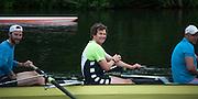 Henley. Great Britain.   Molesey Eights 40+ and 50+ 175th  Henley Royal Regatta, Henley Reach. England. 07:48:48  Sunday  06/07/2014. [Mandatory Credit; Intersport-images] <br /> <br /> Crews 40's Bow, Dan RITCHIE, James WRIGHT, Jonny SEARLE, Guy POOLEY, Alex Partridge, Mike BLOMQUIST, Simon FIELDHOUSE, Dave GILLARD, Neil CHUGANI,<br /> <br /> 50's Richard STANHOPE, Martin CROSS, Malcolm MCGOWAN, Joe MICHELS, Jean CHRISTOPHE-ROLLAND, Matt PINSENT, Ian MCNUFF, Diederik SIMON cox Gary HERBERT