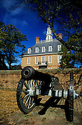 Image of the Governor's Palace on Duke of Gloucester Street in Colonial Williamsburg, Virginia, east coast by Randy Wells