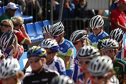 Peloton during the Women´s Elite Road Race on day five of the UCI Road World Championships on September 24, 2011 in Copenhagen, Denmark. (Photo by Marjan Kelner / Sportida Photo Agency)....