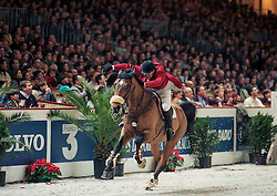 Van der Schans Wout Jan, NED, Leroy Brown<br /> CSI-W Bordeaux 1996<br /> © Dirk Caremans<br /> 06/01/17