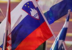 21-08-2016 BRA: Olympic Games day 22, Rio de Janeiro<br /> Rio neemt afscheid van de Olympische Spelen, sluitingsceremonie met veel dans, muziek en saaiheid / Slovenia flag