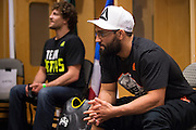 DALLAS, TX - MARCH 14:  Johny Hendricks relaxes backstage before his fight against Matt Brown during UFC 185 at the American Airlines Center on March 14, 2015 in Dallas, Texas. (Photo by Cooper Neill/Zuffa LLC/Zuffa LLC via Getty Images) *** Local Caption *** Johny Hendricks