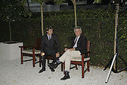 Max Benitz and James Hughes-Onslow. Ruinart party at The Hempel, Hempel Gardnes.  Craven Hill Gardens. 18 July 2006. <br />ONE TIME USE ONLY - DO NOT ARCHIVE  © Copyright Photograph by Dafydd Jones 66 Stockwell Park Rd. London SW9 0DA Tel 020 7733 0108 www.dafjones.com