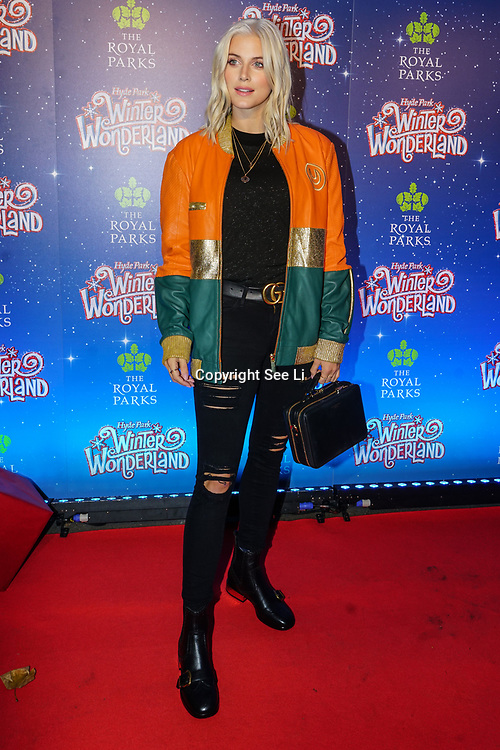 London, England, UK. 16th November 2017. Ashley James attend the VIP launch of Hyde Park Winter Wonderland 2017 for a preview. tomorrow is opening for the public