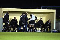 Fotball, 21. februar 2004, La Manga, Rosenborg-Dynamo Kiev 4-4,  Harald Martin Brattbakk, Rosenborg, sliter med ryggen