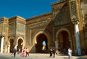 MOROCCO, MEKNES Bab Mansour, monumental gateway into the Imperial City, built by Moulay Ismail in 17-18C