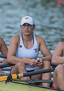 Plovdiv BULGARIA. 2017 FISA. Rowing World U23 Championships. <br /> USA BW4X. MOODY, Savannah <br /> Wednesday. PM,  Heats 17:15:36  Wednesday  19.07.17   <br /> <br /> [Mandatory Credit. Peter SPURRIER/Intersport Images].
