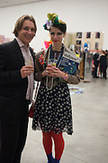 ANTON OLTAR; ANNA KOMPANIELO, Editor of Wallpaper: Tony Chambers and architect Annabelle Selldorf host drinks to celebrate the collaboration between the architect and three of Savile Row's finest: Hardy Amies, Spencer hart and Richard James. Hauser and Wirth Gallery. ( Current show Isa Genzken. ) savile Row. London. 9 January 2012.