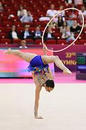 Iasmina Agagulian, Armenia,Rhythmic Gymnastics at Papp Laszlo Budapest Sports Arena, Budapest, Hungary on 19 May 2017. Photo by Myriam Cawston.