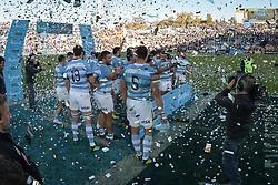 August 25, 2018. Malvinas Argentinas Stadium, Mendoza, Argentina.<br /> LOS PUMAS celebrating their victory over The Springboks.