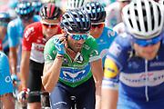 Alejandro Valverde (ESP - Movistar) Green jersey,, during the UCI World Tour, Tour of Spain (Vuelta) 2018, Stage 3, Mijas - Alhaurin de la Torre 178,2 km in Spain, on August 27th, 2018 - Photo Luis Angel Gomez / BettiniPhoto / ProSportsImages / DPPI