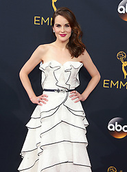 Michelle Dockery arriving for The 68th Emmy Awards at the Microsoft Theater, LA Live, Los Angeles, 18th September 2016.