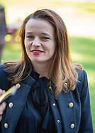 Old Westbury, New York, U.S. October 19, 2019. ISABELA GOLA is outdoors during the Closing Reception for Jerzy Kędziora Balance in Nature outdoor sculptures exhibit held at Old Westbury Gardens. Gola, who was a panelist at the event, was born in Poland, and is the Curator of Visual Art & Design Programming at the Polish Cultural Institute NY, in the field of public diplomacy.