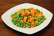 Steamed Peas and carrots salad