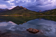 Silver Jack Reservoir on Owl Creek Pass, Uncompahgre National Forest, near Ridgway, Colorado