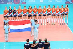 20150619 AZE: 1ste European Games Baku Servie - Nederland, Bakoe<br /> Nederland verslaat Servie met 3-2 / Line up Nederland