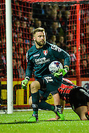 Artur Boruc during the Capital One Cup match between Bournemouth and Liverpool at the Goldsands Stadium, Bournemouth, England on 17 December 2014.