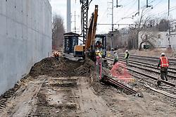 Construction Progress Railroad Station Fairfield Metro Center - Site visit 9 of once per month Chronological Documentation.