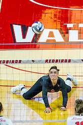 BLOOMINGTON, IL - August 13:  Carley Nicholson during a college Women's volleyball Scrimmage of the Illinois State Redbirds on  August 13 2021 at Illinois State University in Normal, IL. (Photo by Alan Look)